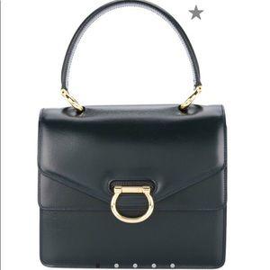Céline Vintage Black Double Flap Handbag # F706